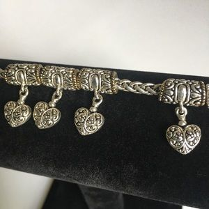 Slide Barrel Charm Bracelet - Silver - Adjustable